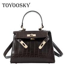 9bb172654c81 TOYOOSKY Brand women totes mini solid lock alligator handbag hotsale ladies  evening clutch shoulder crossbody messenger