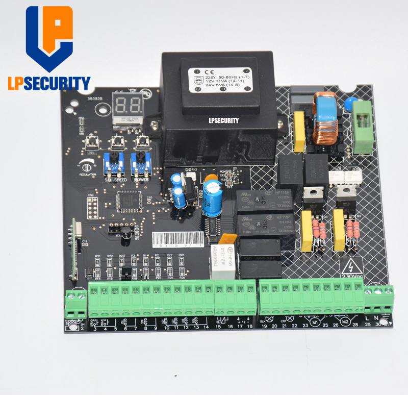 AC 220V - 230V Main Circuit Control Board for  Double arms Swing Gate Opener
