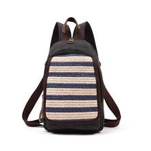 2017 Лидер продаж Для женщин модные Корейский стиль Вязание рюкзак женский холст Винтаж рюкзак одноцветное Цвет Повседневное школьная сумка Bolsa