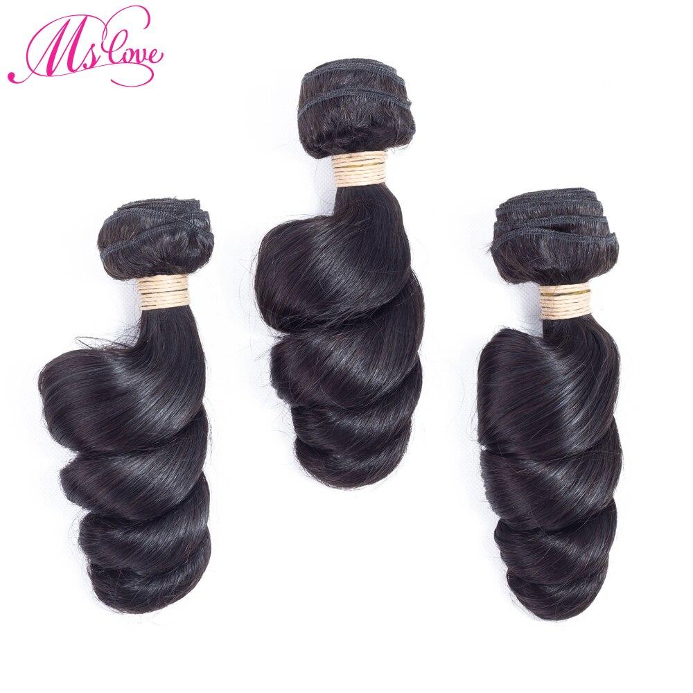 Loose Wave Peruvian Hair Weave Bundles 100% Human Hair 3 Pcs Non Remy Hair Extension