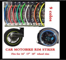 9 Colors 18 Stripes 14 18 Wheel Rim Decal Sticker for Car Motorcycle Car Modified Styling