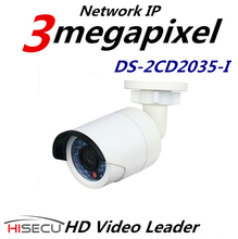 Video Vigilancia Multi Idioma Versión DS-2CD2035-I Bala Cámara de Vigilancia IP Cámara de 3.0 Megapíxeles 4mm Lente Fija