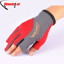 SHUNMIER 3 Half Finger Pu Durable Anti-Slip Breathable Fishing Gloves Pesca Sport Gloves Tackle Insulated Luvas