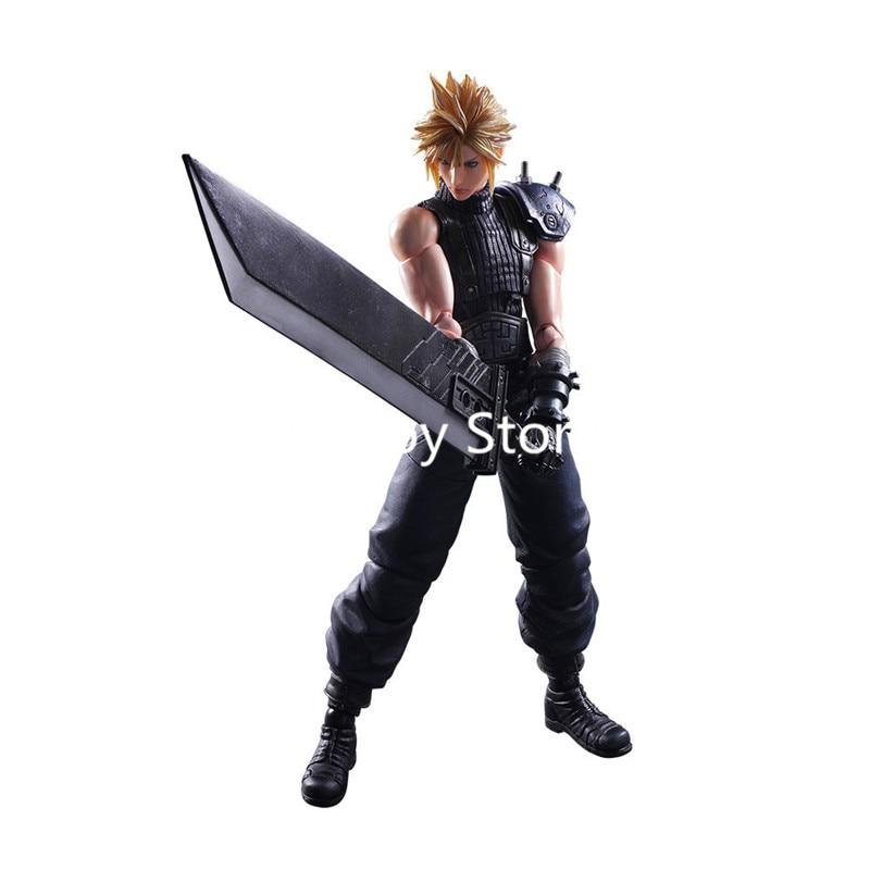 Final Fantasy Play Arts Kai VII 7 NO.1 Cloud Strife PVC Action Figure Collectible Model Toy 26cm Retial BoxFinal Fantasy Play Arts Kai VII 7 NO.1 Cloud Strife PVC Action Figure Collectible Model Toy 26cm Retial Box
