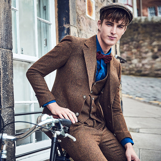 Marke Kleidung 60 Wolle Blazer Manner Slim Fit Einreiher Retro