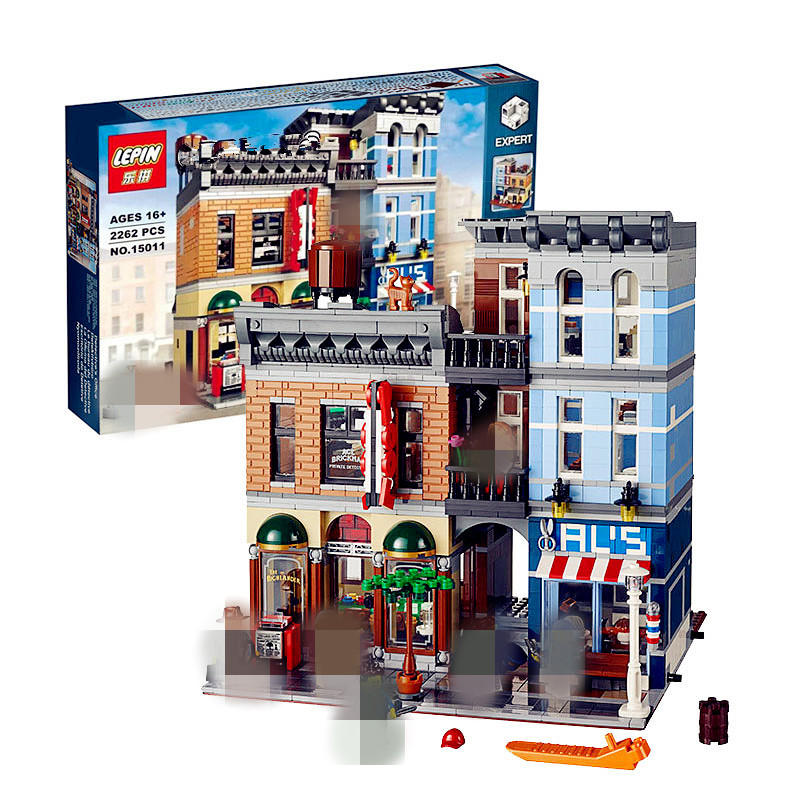 IN STOCK LEPIN 15011 2262Pcs City Street Detective's Office Model Building Kit Blocks Bricks Compatible Toy 10246