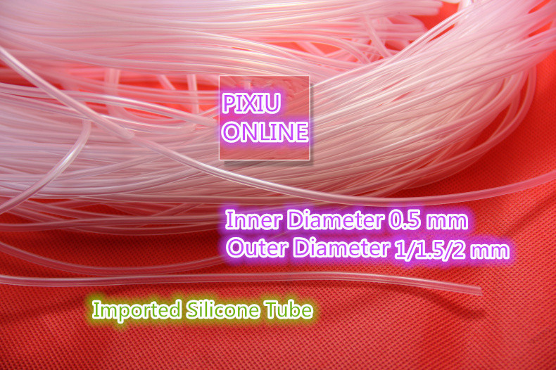 1PCS  YT823  Imported Silicone Tube  ID 0.5 Mm* OD1/1.5/2mm  Plumbing Hoses Food Grade Capillary Transparent Hose   1Meter