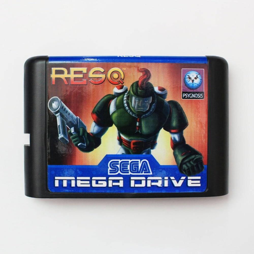 RESQ 16 bit SEGA MD Game Card For Sega Mega Drive For Genesis
