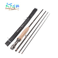 2016 New Fly Fishing Rods 2 4m 2 7m Carbon 4Section 3 4 5 6 Fish