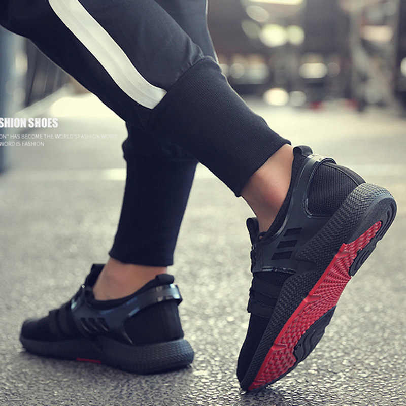 ชายรองเท้าแฟชั่นรองเท้าผ้าใบฤดูร้อน Breathable Flyknit รองเท้ากลางแจ้งแนวโน้มรองเท้ารองเท้า Zapatillas