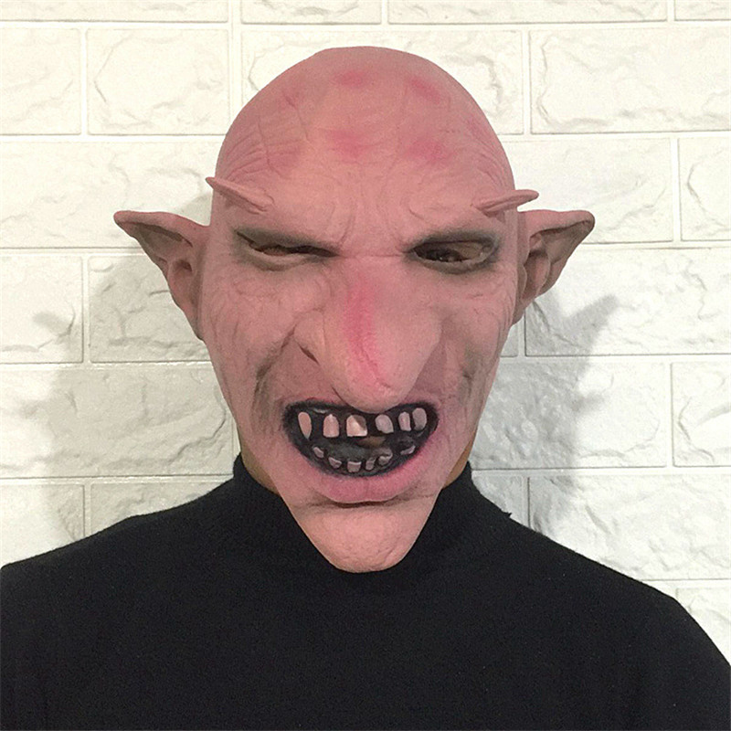 Takerlama Goblins Big Nose Horror Mask Creepy Costume Party Cosplay Props Men Latex Scary Mask for Halloween Terror Zombie