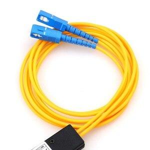 Image 4 - Ücretsiz kargo LC/UPC 1x2 PLC Singlemode Splitter Fiber optik SC arayüzü Fiber dallanma cihazı KELUSHI