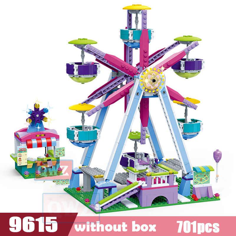 Nueva Serie Legoes Friends, parque de atracciones, Noria, modelo, bloques de construcción, juguetes de juego para niños, niñas, juguetes, regalos