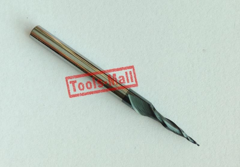 1ks HRC55 R0.25 * D4 * 15 * 50L * 2F Tungstenový karbid wolframu - Obráběcí stroje a příslušenství - Fotografie 2