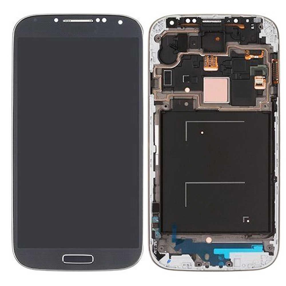 """5.0 """"سوبر AMOLED لسامسونج غالاكسي S4 IV شاشة الكريستال السائل محول الأرقام بشاشة تعمل بلمس لسامسونج S4 i9500 i9505 i9506 i545 E300S LCD"""