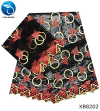 LIULANZHI bazin fabrics with beads Bazin Riche Fabric Hot selling Getzner Blouse embroidered Brocade 7yards XB82