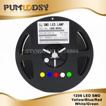 1Reel 3000pcs 1206 SMD LED diodes light  Yellow Red Green Blue White new and original