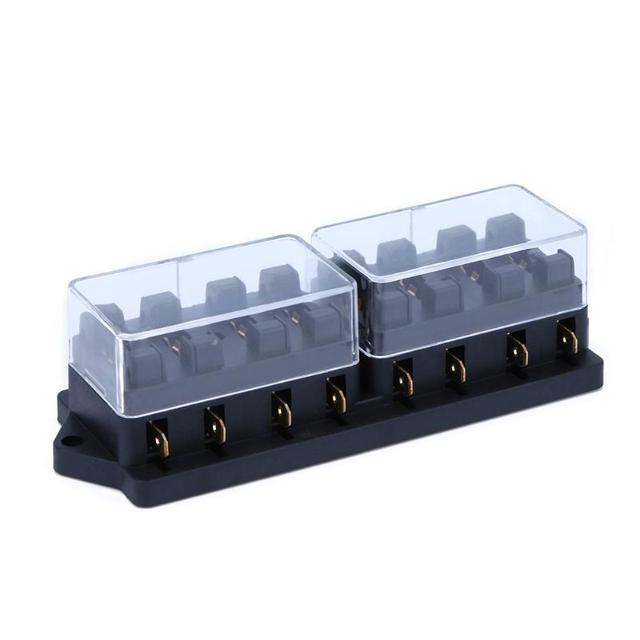 8 Way Circuit Car Truck Fuse Box Fuse Holder Inserted Blade 12V 24V Low Voltage Protector_640x640 aliexpress com buy 8 way circuit car truck fuse box fuse holder Waterproof Motorcycle Fuse Block at n-0.co