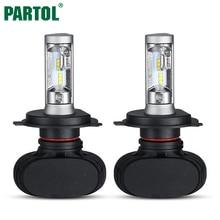 S1 Partol H4 9003 HB2 CSP LED Car Headlight Conversion Kit Hi-Lo Beam 50W 8000LM 6500K Fog Lamp Bulb for VW AUDI FORD KIA TOYATO