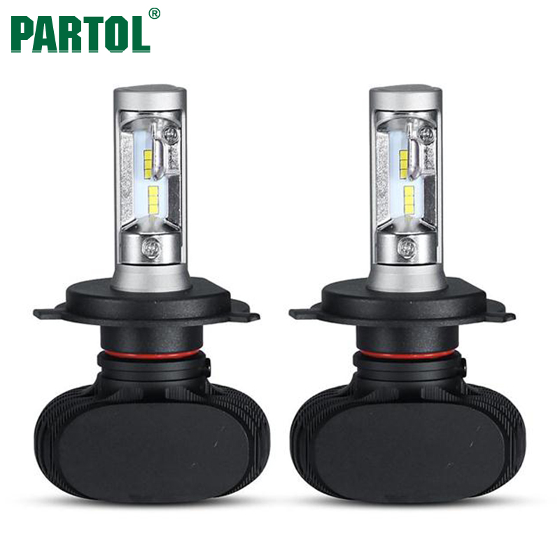 S1 Partol H4 CSP LED H7 H11 Car Headlight <font><b>Conversion</b></font> Kit Hi-Lo Single Beam 50W 8000LM 6500K Fog Lamp Bulb for AUDI TOYATO KIA VW