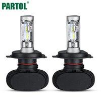 2x H4 LED Car Headlight Bulbs 50W 8000LM Hi Lo Beam 9003 HB2 For PHILIPS CSP