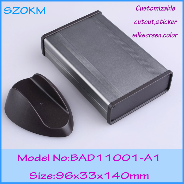 8 pcs/lot small aluminum box metal enclosure aluminium enclosure electronics 96x33x140 mm aluminium housing metal electronics box diy aluminum enclosure ygs 036 96 45 5 140mm wxh d