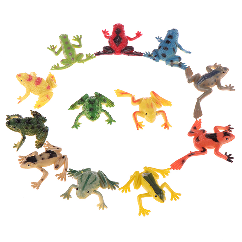 Toy Figures Frogs-Model Learning-Education-Toys Action for Children Gift 12pcs/Lot New