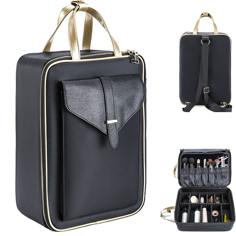 e28e7f88812c New arrival Large multi-storey professional make up package bag nail  pattern semi-permanent tool box