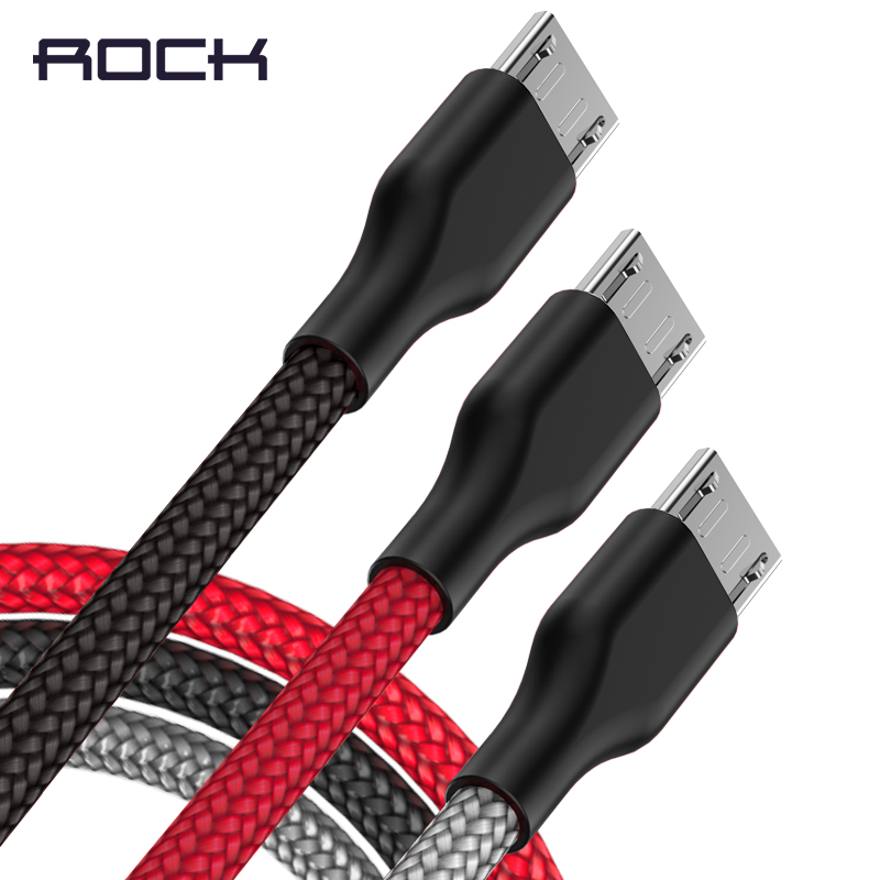Micro USB Cable ROCK 2A Nylon Fast Charge USB Data Cable for Samsung Xiaomi LG HTC Tablet