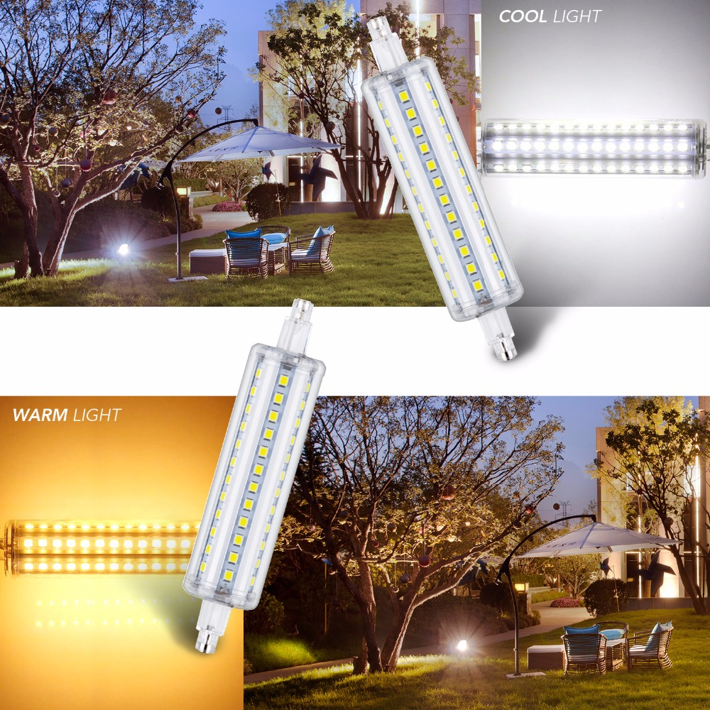 220v LED R7S Horizontal Plug lamp LED Bulb 5W 10W 12W 15W 2835SMD 110v 78mm 118mm 135mm 189mm For Floodlight Lawn light Blub high power dimmable 189mm led r7s light 50w cob r7s led lamp with cooling fan replace 500w halogen lamp