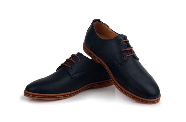Hot Sale New oxford Casual shoes Men Fashion Men Leather Shoes Spring Autumn Men Flat Patent Leather Men Shoes WGL-K03-1 17