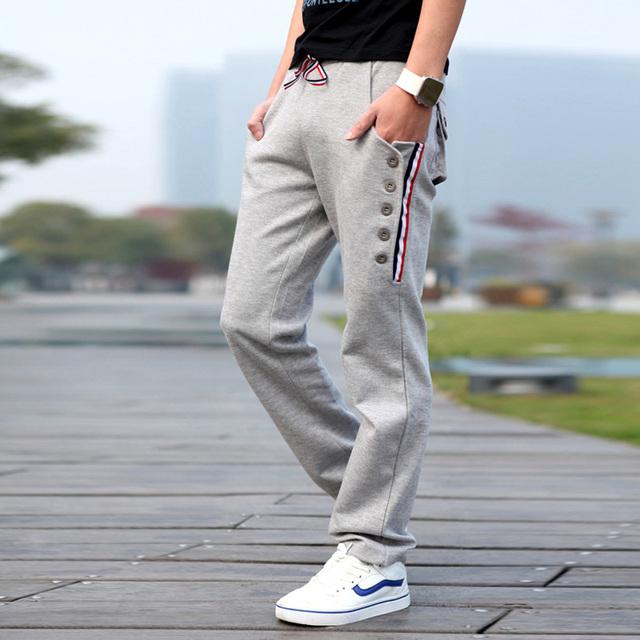 2016 nova chegada calças dos homens corredores sportpants open air shark projeto botão de calça de carga sweatpants casuais harem pants homens sc551