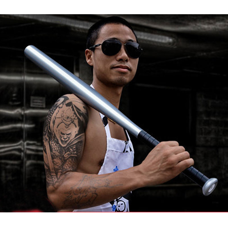 Baseball Bat Iron Baseball Pole Car Gym Home Baseball Bats Self-defense Sticks Fight Hardened Defense Metal Bars