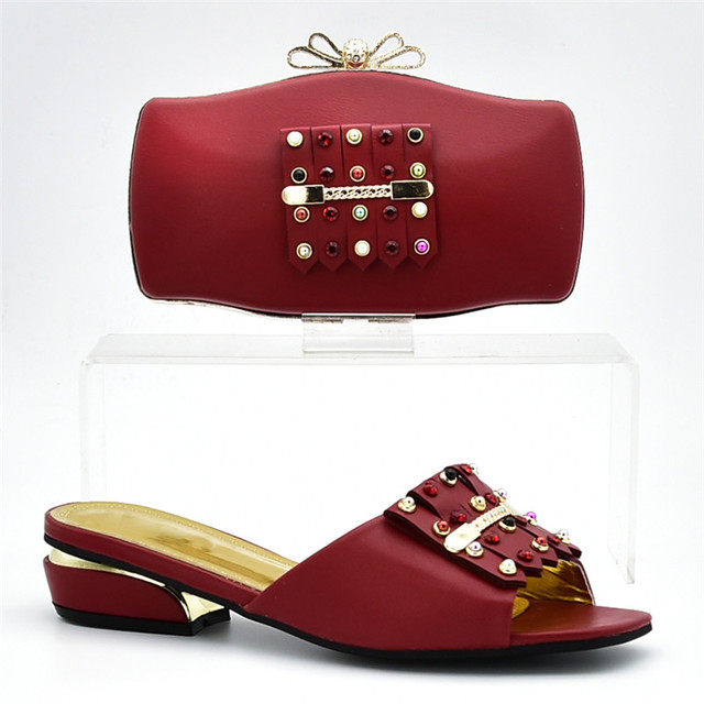 New Arrival Designer Shoe Women Luxury 2018 Nigerian Shoes and Matching Bags Women Shoes and Ba Set In Italy Slip on Women Pumps