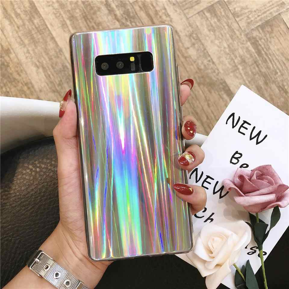 Aurora laser Silicone TPU IMD Case for Samsung Galaxy S10 Plus S10E S9 S9 A30 A50 A70 A6 A7 A8 2018 Cover Soft Bling Phone Cases