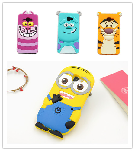 Cartoon 3D Cute Minions Monsters Sulley Tiger Cat Soft Silicone Case Samsung Galaxy A3 A5 A7 J1 J3 J5 J7 2016 Back Cover  -  Global Trading Co., LTD store