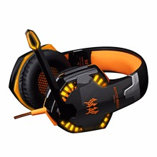 Best price Kotion EACH G2000 Computer Stereo Gaming Headphones Best casque Deep Bass Game Earphone Headset with Mic LED Light for PC Gamer