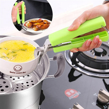 Фотография Multifunctional Stainless Steel Bowl Clip Taken Against Hot Dishes Bowl Clamp Lifting Device Disk Folder Creative Kitchen Tool