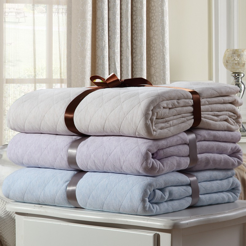 100% Pure natural organic cotton super healthy and comfortable quilt bed cover bedding set bedspread blanket sheet