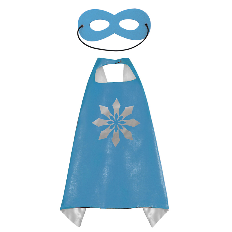 Image 4 - 50 Kids Superhero capes   Double sides Satin Fabric super hero cape + mask party supplies for Children's birthday party cosplay