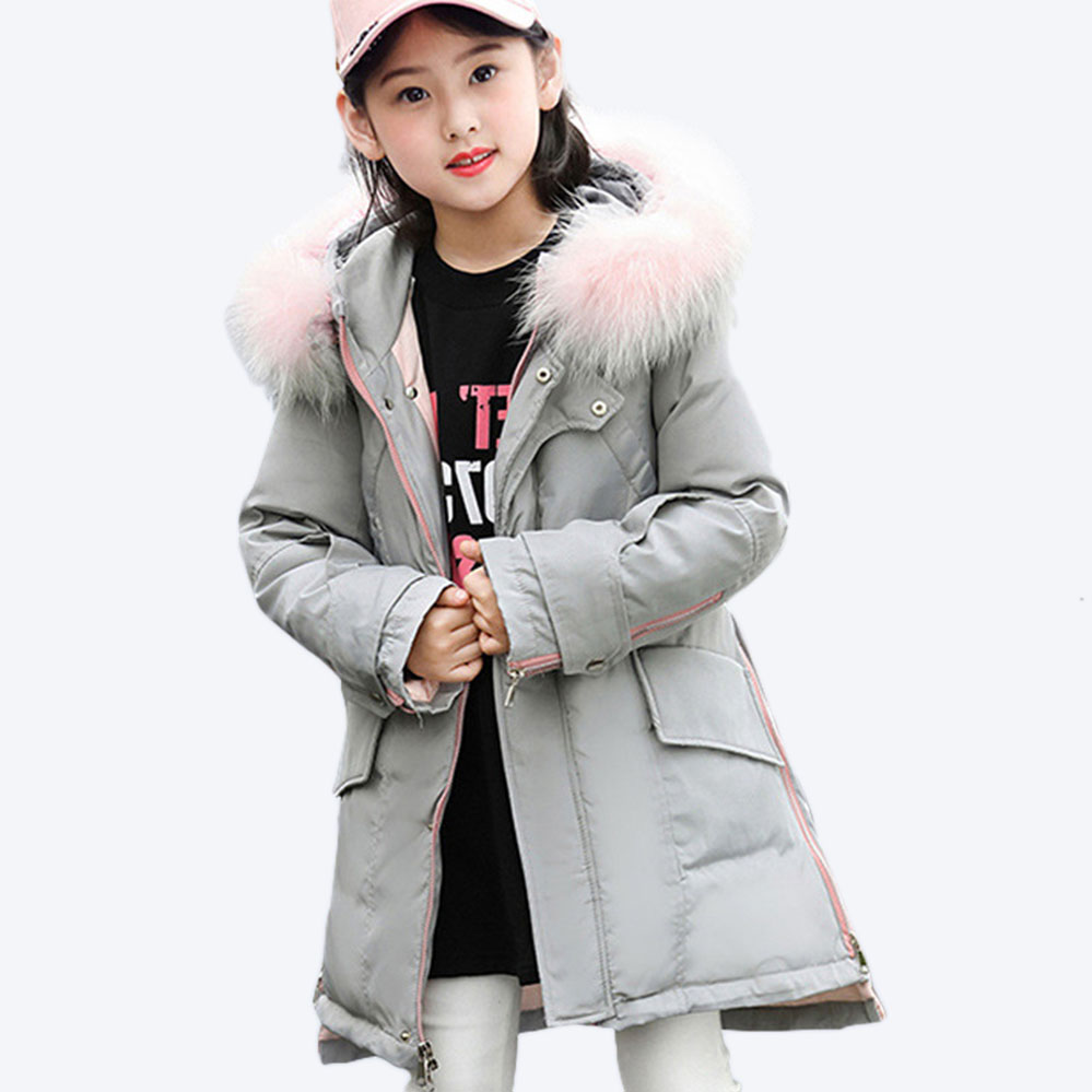 Teen Girls Winter Jackets -30 Degree Children Winter Coat Kids 80% White Duck Down Coat Long Children Kids Parka Jackets 2018 xyf8831 girls kids autumn winter down jackets 80