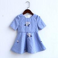 Summer children family outfits kids girls cotton full dress + women long shirt matching look mother and daughter casual dresses