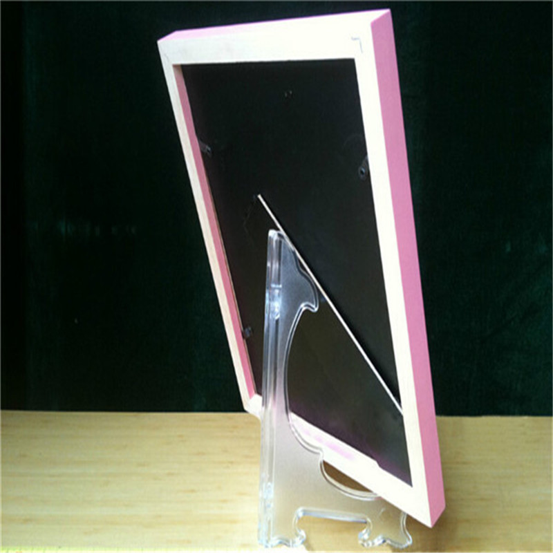 New 1 PC Clear Plastic Plate Stands Bowl Plate Display Stands ...