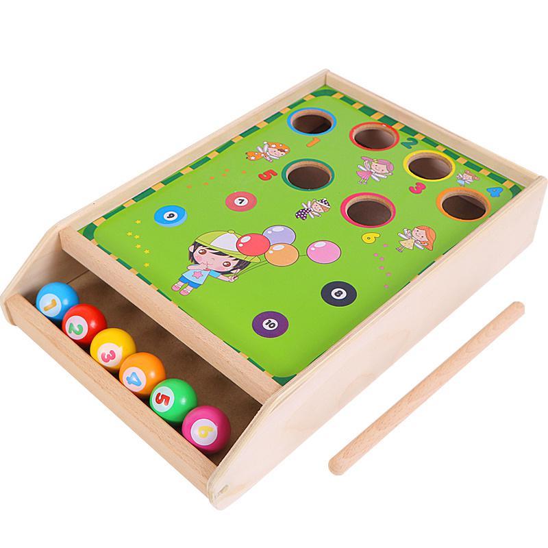 Bureau en bois jeu de billard Mini Table jouets enfants couleur numérique Cognition éducation garçon cadeaux partie jeu