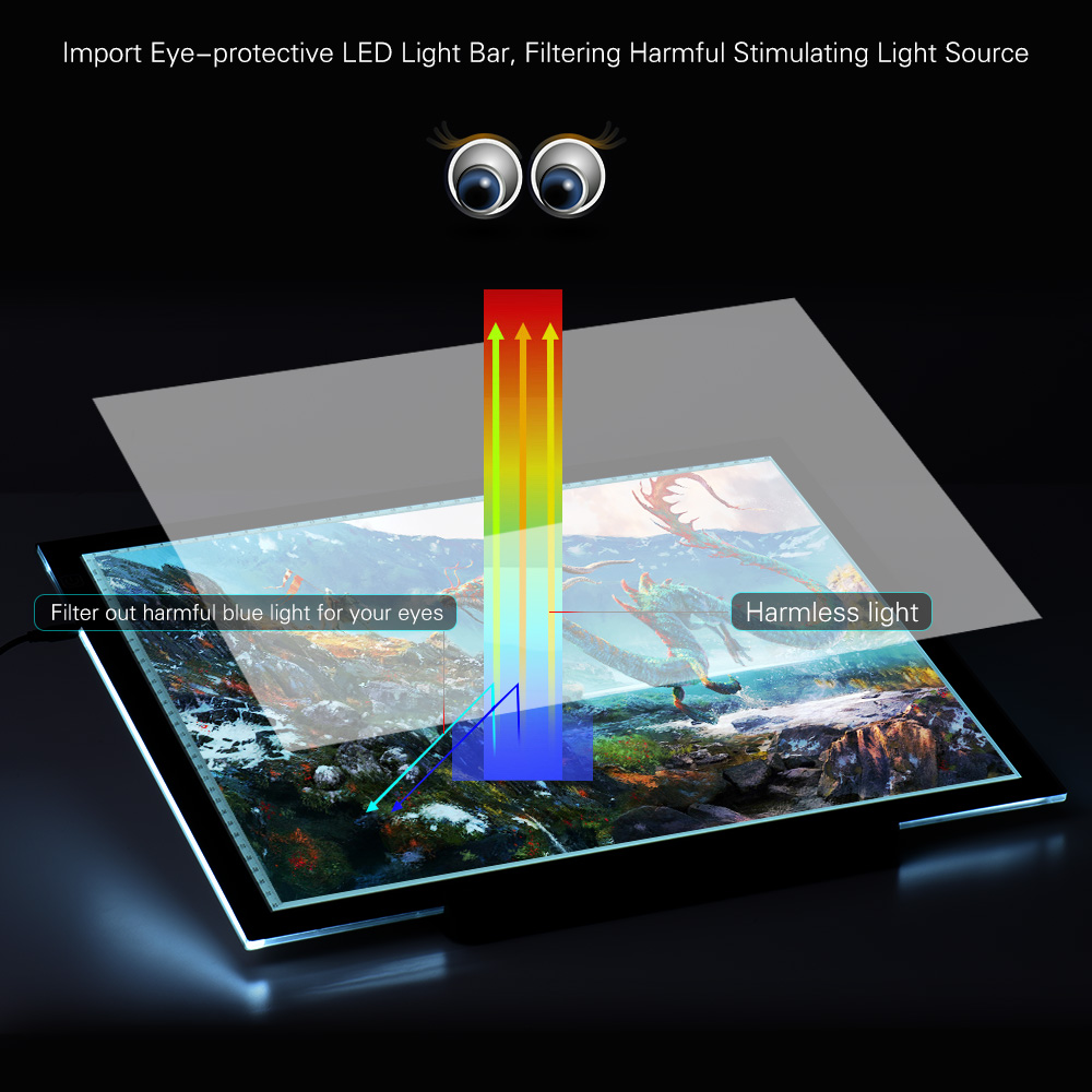 Back To Search Resultstoys & Hobbies Gags & Practical Jokes A3 Led Light Pad Box Drawing Tracing Tracer Copy Board Intelligent Touch Control 3 Adjustable Brightness Levels Table Pad Panel