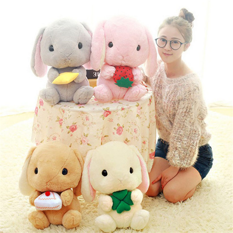 4 Styles Lovey Rabbit 40CM Bunny Plush Toys Kawaii Stuffed Animals Wedding Gift For Girls Kids High Quality Birthday Gifts stuffed animal 120 cm cute love rabbit plush toy pink or purple floral love rabbit soft doll gift w2226