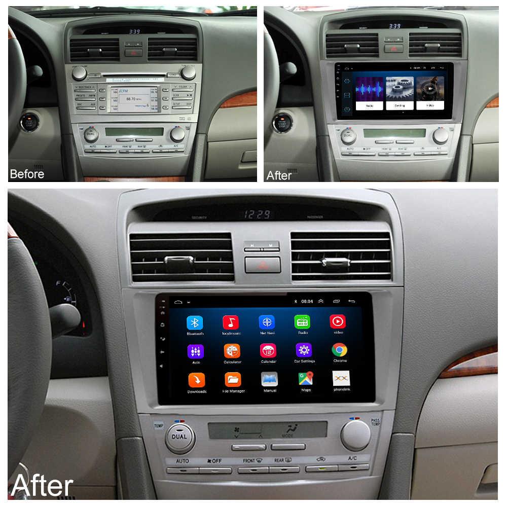 LEHX Android 8,1 автомобильный мультимедийный плеер 2 din автомагнитола для toyota camry 2007 2008 2009-2011с навигацией автомобиля стерео головное устройство
