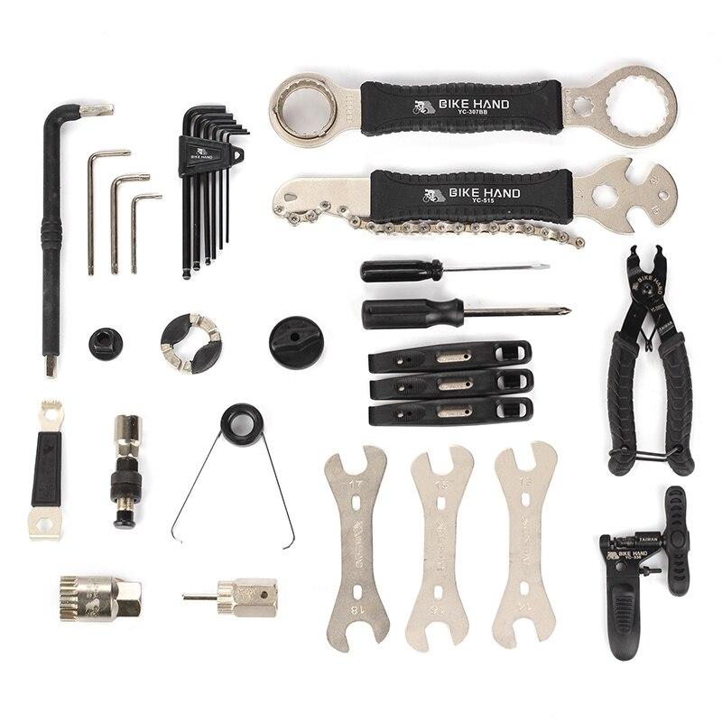 BIKEIN 18 en 1 Kit de herramientas de reparación de bicicletas juego multifunción MTB herramientas de reparación de cadena de neumáticos radios llave hexagonal destornillador herramientas de bicicleta - 5