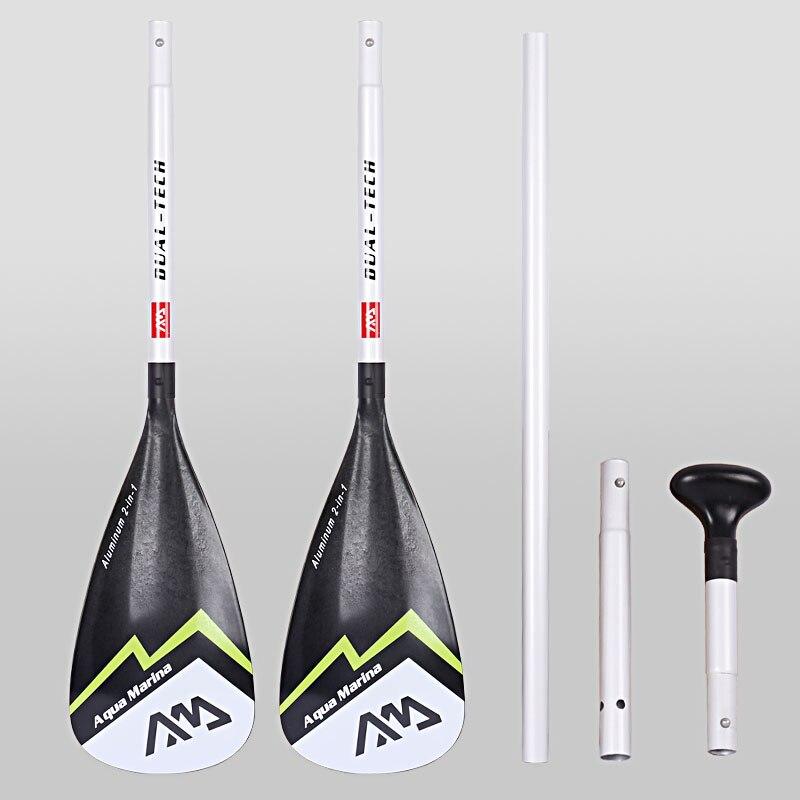 AQUA MARINA palette en aluminium pour kayak bateau gonflable planche sup stand up planche à aubes pour surf planche de surf oar T poignée A03004 - 4