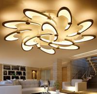 Nova Flor Dandelion Modern LED Teto Lâmpada de Iluminação da Sala de Jantar Quarto sala de Montagem Embutida